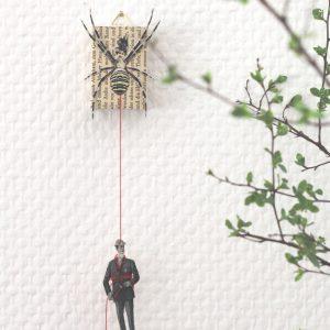 Kunstschachtel Spinne den Faden weiter