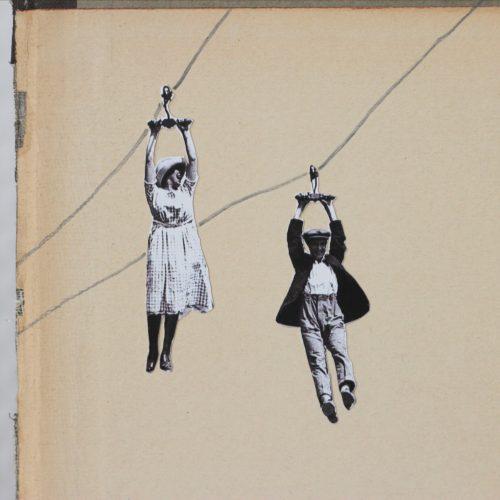 Konfetti-Collage Hängepartie
