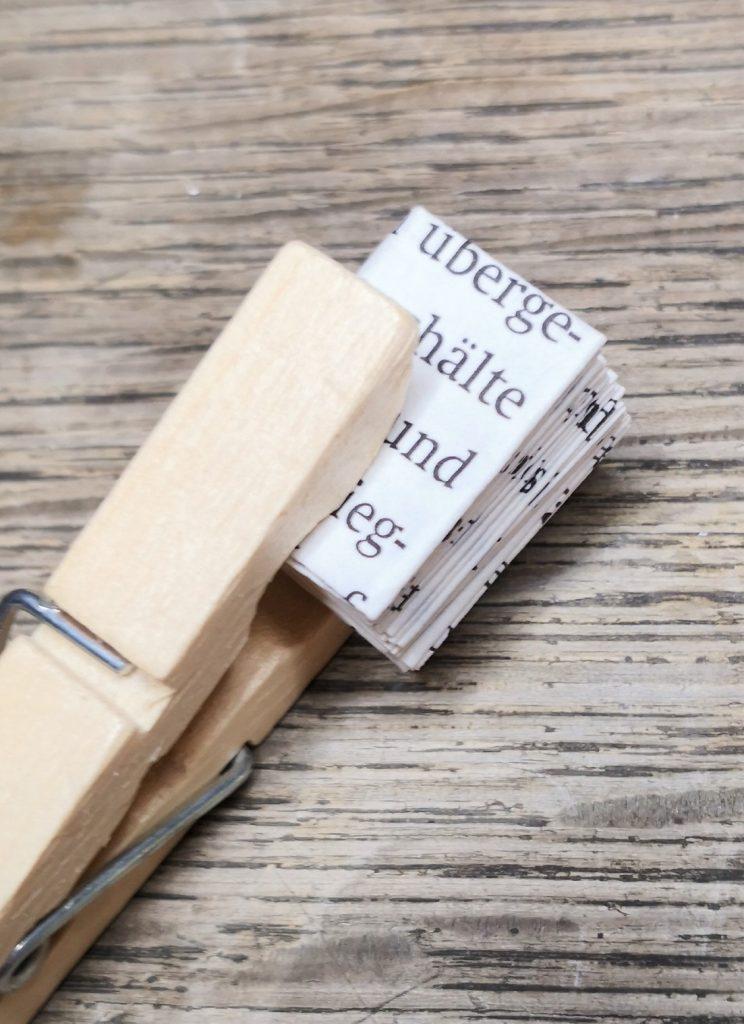 Mini-Bücher falten mit Anleitung